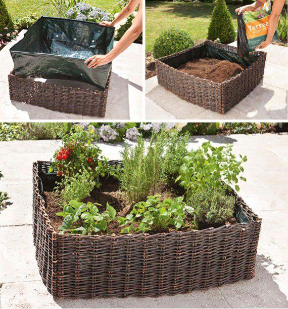 Carre potager en osier plante en ligne for Destockage plantes