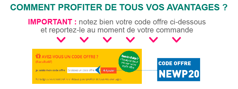 code offre NEWP20